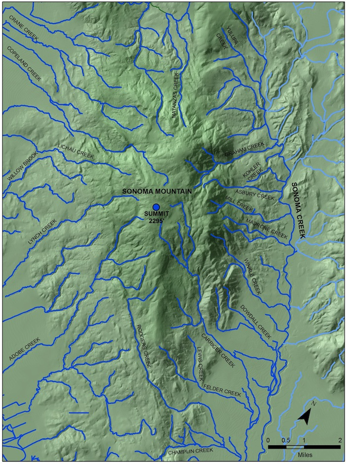 Sonoma Mountain Creeks Map