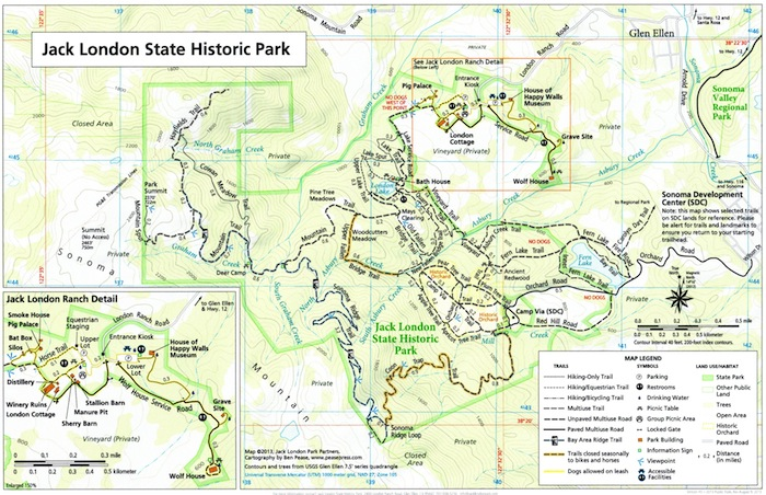 Jack London Park trail Map